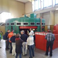 Teilnehmer bei der SPD Herbstwanderung im Wasserkraftwerk Garstadt