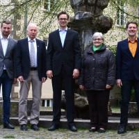 v.l. Stefan Rottmann, Peter Pfister, Thomas Meidl, Helga Fleischer und Thomas Posselt.